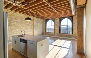 Large Window Kitchen Area